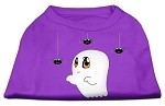 Sammy the Ghost Screen Print Dog Shirt Purple Med (12)