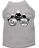 Stay Wild Screen Print Dog Shirt Grey Med (12)