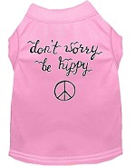 Be Hippy Screen Print Dog Shirt Light Pink XS (8)