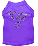 Be Hippy Screen Print Dog Shirt Purple XS (8)