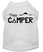Happy Camper Screen Print Dog Shirt White Med (12)