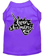 Born to be a Unicorn Screen Print Dog Shirt Purple XS (8)