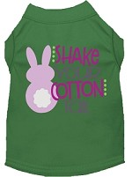 Shake Your Cotton Tail Screen Print Dog Shirt Green Med