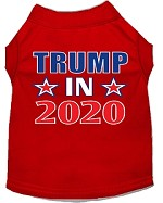 Trump In 2020 Screen Print Dog Shirt Red XS