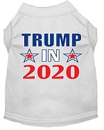 Trump In 2020 Screen Print Dog Shirt White Med