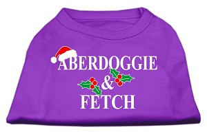 Aberdoggie Christmas Screen Print Shirt Purple XXXL(20)