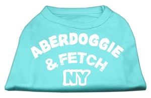 Aberdoggie NY Screenprint Shirts Aqua Sm