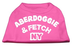 Aberdoggie NY Screenprint Shirts Bright Pink XXL (18)