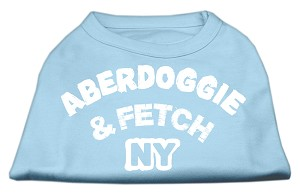Aberdoggie NY Screenprint Shirts Baby Blue Med