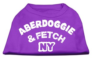 Aberdoggie NY Screenprint Shirts Purple Lg