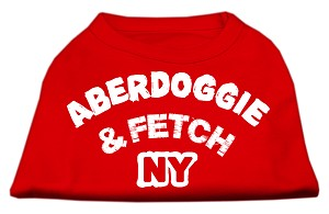 Aberdoggie NY Screenprint Shirts Red XS