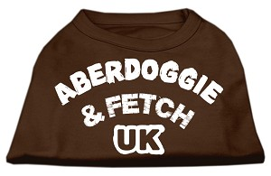Aberdoggie UK Screenprint Shirts Brown Med (12)