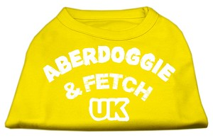 Aberdoggie UK Screenprint Shirts Yellow XXL (18)