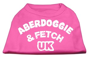 Aberdoggie UK Screenprint Shirts Bright Pink Med