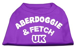 Aberdoggie UK Screenprint Shirts Purple XXXL
