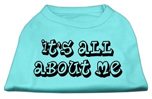 It's All About Me Screen Print Shirts Aqua XS (8)