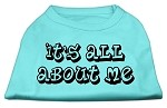 It's All About Me Screen Print Shirts Aqua XS