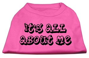 It's All About Me Screen Print Shirts Bright Pink XS