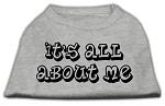 It's All About Me Screen Print Shirts Grey XS