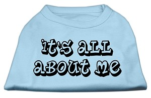 It's All About Me Screen Print Shirts Baby Blue XS