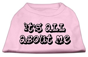 It's All About Me Screen Print Shirts Light Pink Sm (10)