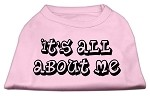 It's All About Me Screen Print Shirts Light Pink XS
