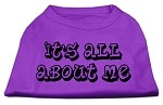 It's All About Me Screen Print Shirts Purple XS