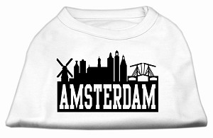 Amsterdam Skyline Screen Print Shirt White Sm (10)