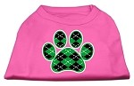 Argyle Paw Green Screen Print Shirt Bright Pink Med (12)