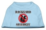 Backyard Security Screen Print Shirts Baby Blue XS (8)