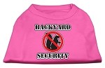 Backyard Security Screen Print Shirts Bright Pink XS (8)