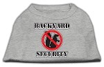 Backyard Security Screen Print Shirts Grey XS (8)