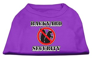 Backyard Security Screen Print Shirts Purple S