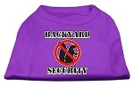 Backyard Security Screen Print Shirts Purple XS (8)