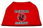 Backyard Security Screen Print Shirts Red XS (8)