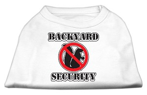 Backyard Security Screen Print Shirts White XL (16)