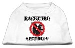 Backyard Security Screen Print Shirts White L (14)