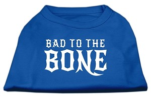 Bad to the Bone Dog Shirt Blue Sm (10)