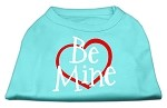 Be Mine Screen Print Shirt Aqua XS (8)