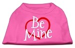 Be Mine Screen Print Shirt Bright Pink XS (8)