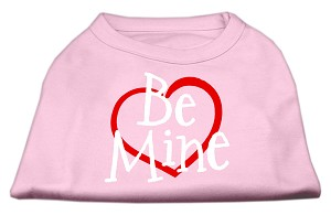 Be Mine Screen Print Shirt Light Pink XS (8)
