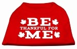 Be Thankful for Me Screen Print Shirt Red XXXL(20)