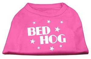 Bed Hog Screen Printed Shirt Bright Pink Sm