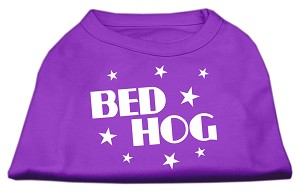 Bed Hog Screen Printed Shirt Purple Lg