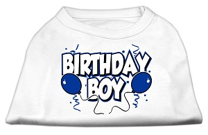Birthday Boy Screen Print Shirts White XS (8)