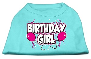 Birthday Girl Screen Print Shirts Aqua XS (8)