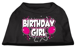 Birthday Girl Screen Print Shirts Black XS
