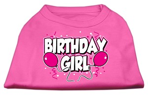 Birthday Girl Screen Print Shirts Bright Pink XL