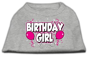 Birthday Girl Screen Print Shirts Grey XS (8)