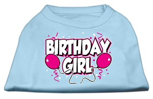Birthday Girl Screen Print Shirts Baby Blue XXXL